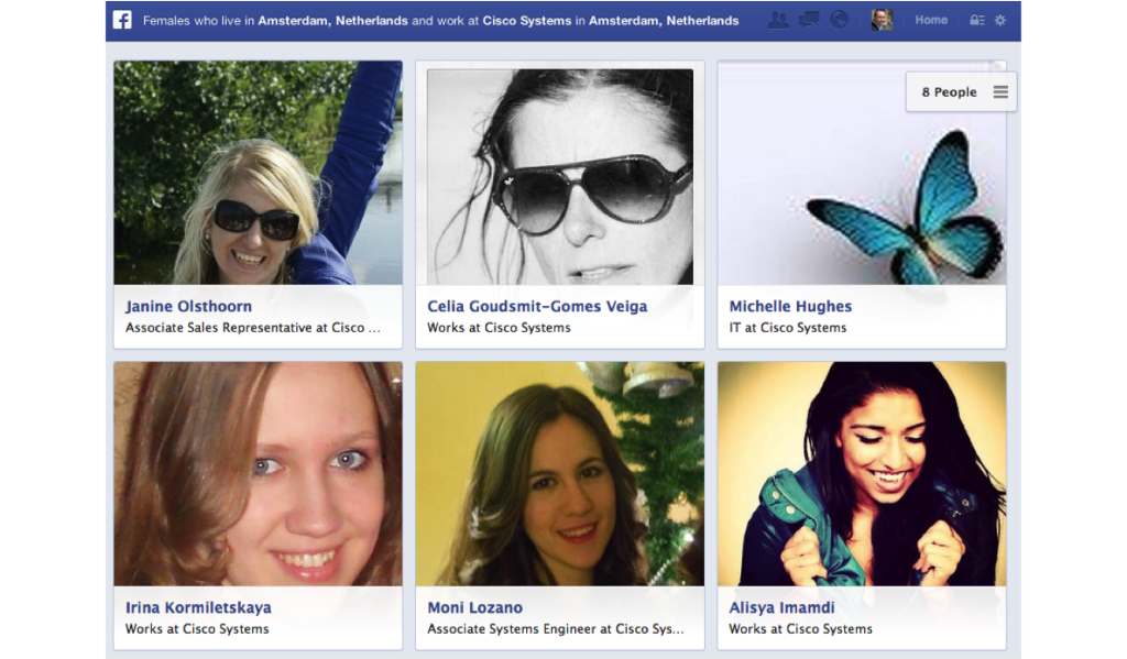 Facebook Social Graph Search