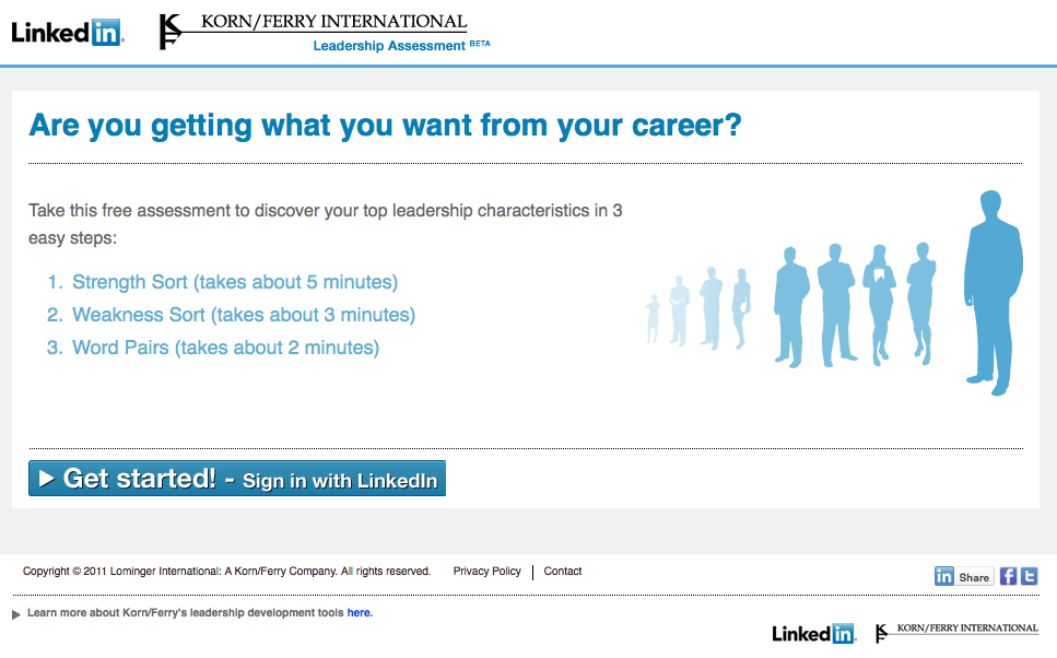 It's no secret that LinkedIn is developing more Recruitment and Talent Management solutions to strenghten their portfolio in this important, revenue making, market. One company that's making use of this is Korn/Ferry, who developed a leadership assessment tool which is now available if you have a LinkedIn profile. You can […]