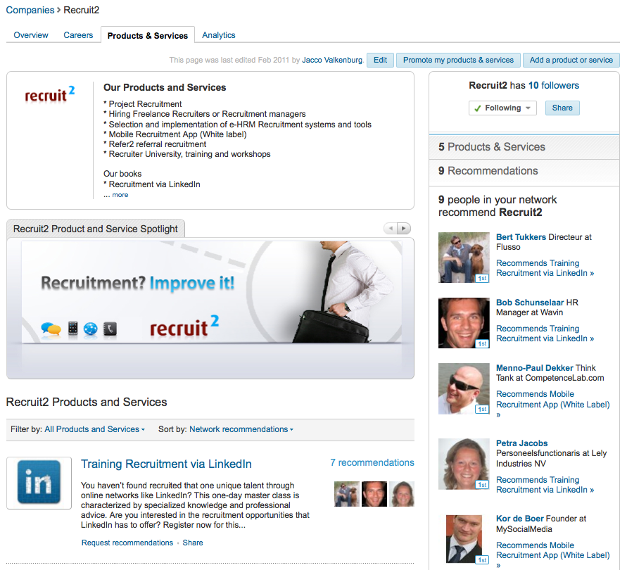 Have you claimed your LinkedIn Company Page yet? It's an easy way for job seekers to be informed about the latest news and developments within your company and, moreover, when you post vacancies they are the first to know about it. Below is a roadmap to do this. But before...