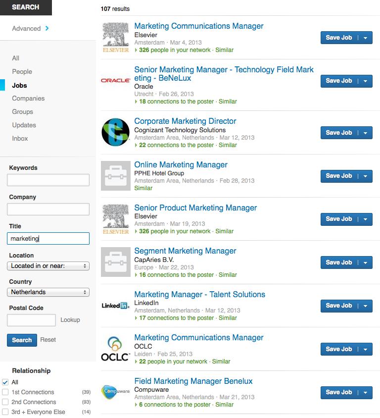 LinkedIn Jobs Search interface NEW