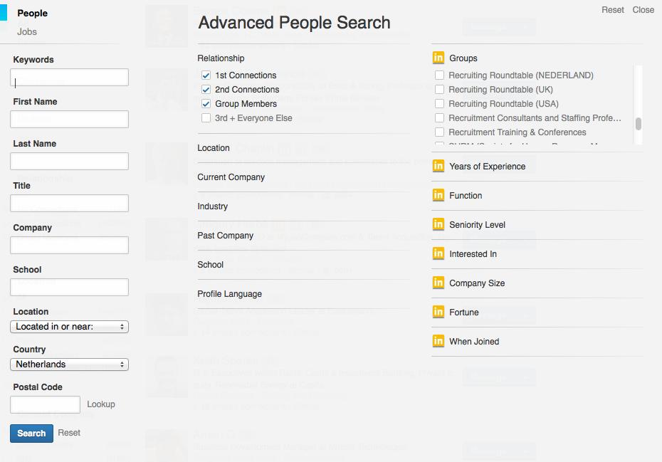 New LinkedIn Advanced People Search