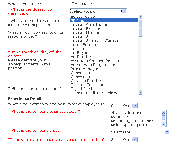 Taleo Job Application Form 2008