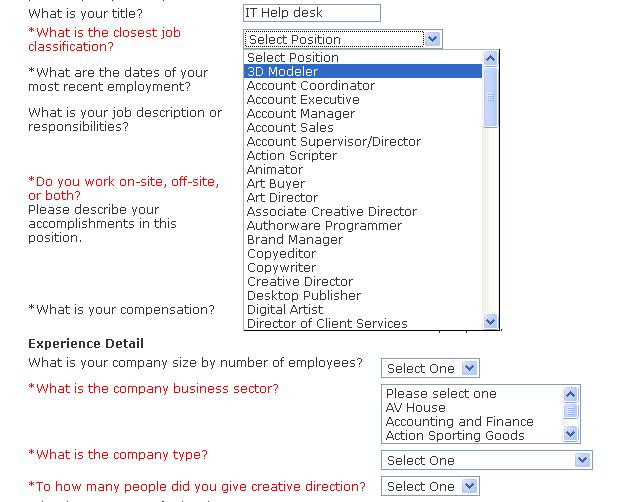 Taleo Job Application Form 2008